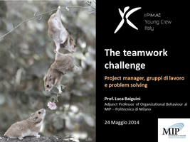 "Young Crew Workshop - ""The teamwork challenge -..."