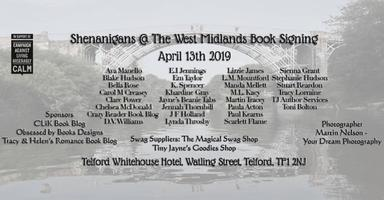 #Shenanigans19 @ The West Midlands Book Signing