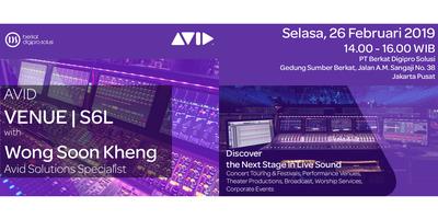 Discover The Next Stage In Live Sound With Venue S6l Tickets Tue Feb 26  Pm Eventbrite