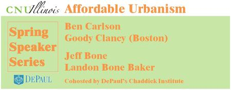 Spring Speaker Event: Affordable Urbanism