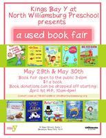 Used Book Fair at North Williamsburg- May29th & May30th