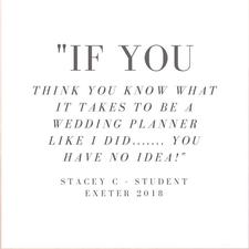 So You Want To Be A Wedding Planner - Is a series of wedding planning course put together by International Wedding Planner Emma Hemmington logo