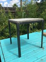 Concrete and Steel End Table