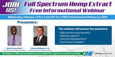 Full Spectrum Hemp Extract - FREE WEBINAR (All about...