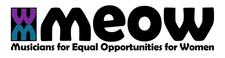 MEOW (Musicians for Equal Opportunities for Women) logo
