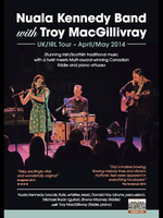 Nuala Kennedy and band with Troy MacGillivray