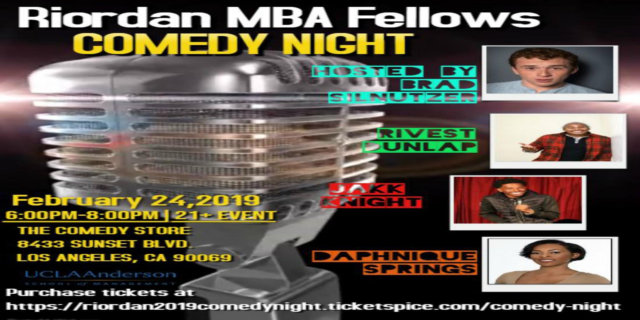 2019 Riordan MBA Fellows Comedy Night