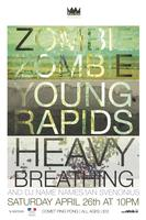 Zombie Zombie, Young Rapids, and Heavy Breathing w/ DJ...