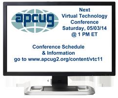 APCUG 2014 Spring Virtual Technology Conference