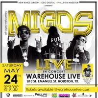 MIGOS IN CONCERT AT WAREHOUSE LIVE HOUSTON, TEXAS...