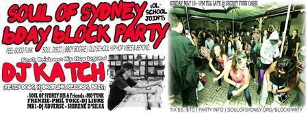 SOUL OF SYDNEY (Ol 'School Joint) B'day Block Party...