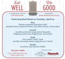 """Eat Well, Do Good"" with the Besh Restaurant Group!"