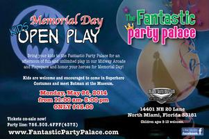 Memorial Day Open Play at the Fantastic Party Palace