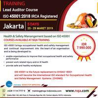 iso 45001 auditor training online