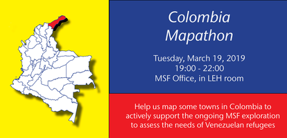 Mapathon MSF & Missing Maps: Colombia