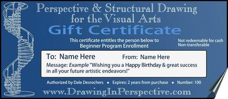 Gift Certificate PERSPECTIVE & STRUCTURAL DRAWING for...