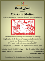 MASKS IN MOTION - Commedia dell'Arte Workshop open to...