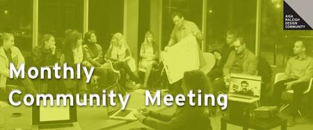 AIGA Raleigh Community Meeting | May 2014