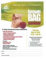 May 15, 2014 Brown Bag Seminar