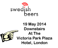 Swedish Beers - the London edition, May 2014