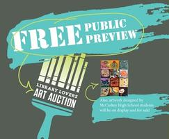 Library Lovers Art Auction-FREE Public Preview