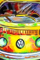 """Canvas Painting Class - """"Love Bus"""""""