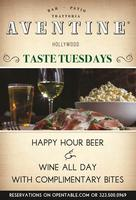 Taste Tuesdays at Aventine Trattorria in Hollywood