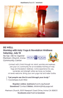 BE WELL: Holy Yoga and Revelation Wellness Event