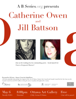 Catherine Owen & Jill Battson - Readings + a book...