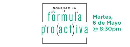 La Fórmula Proactiva - Seminario de Una Noche