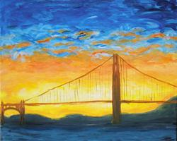 Pa'ina Paint Club - Golden Gate Golden Sunset