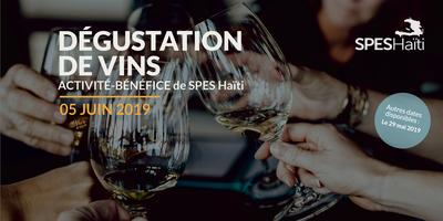 Dégustation de vins activité-bénéfice de SPES Haïti-5...