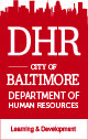 City of Baltimore - DHR Learning & Development Registration Site logo