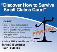 Discover How To Survive Small Claims Court Tickets Tue May 21 2019 At 10 00 Am Eventbrite