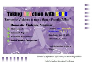 Domestic Violence: It's more than a Family Affair