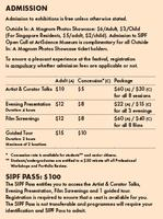 SIPF Ticket Package
