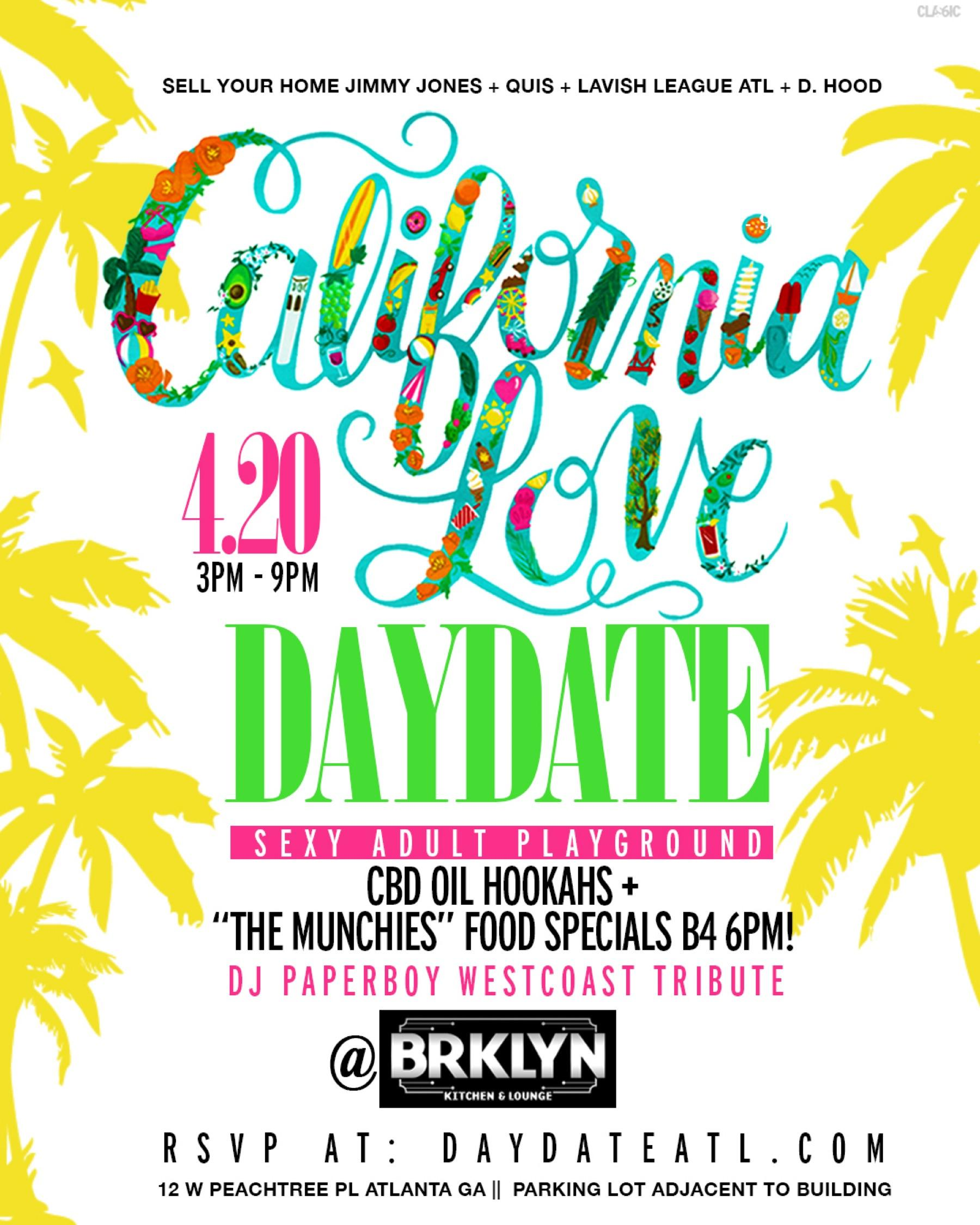 DAY DATE SATURDAYS @BRKLYN LOUNGE  (DAY PARTY)