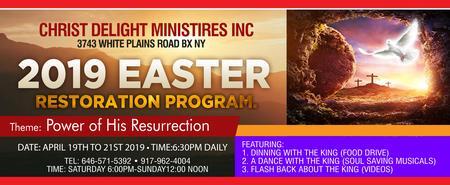 2019 Easter Restoration Program (THE BRONX)