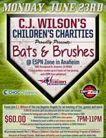 "CJ Wilson's Children's Charities ""Bats & Brushes"" Event"