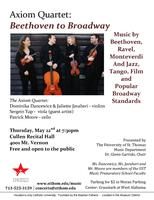 Axiom Quartet: From Beethoven to Broadway