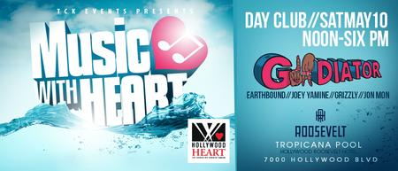 Music with Heart feat. gLAdiator at Hollywood...