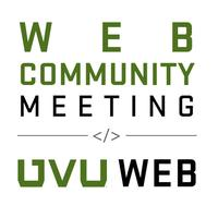 Web Community Meeting - May 30