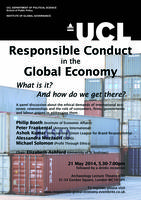 Responsible Conduct in the Global Economy