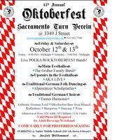 Sacramento Turn Verein - Oktoberfest 2012 - Fri & Sat,...