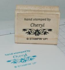 Hand Stamped by Cheryl logo