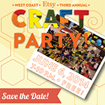 Etsy 2014 Craft Party at CRAFTED