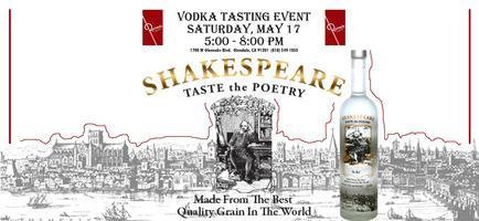 Shakespeare Vodka Tasting