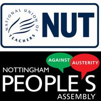 No More Austerity demo coach from Nottingham