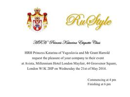 ETIQUETTE CLASS - ENGLISH AFTERNOON TEA WITH HRH...