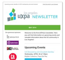 Sign Up For The UXPA of Los Angeles Newsletter!